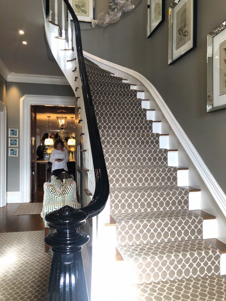 212 High Street Foyer staircase Christmas Holiday House Tour 2018