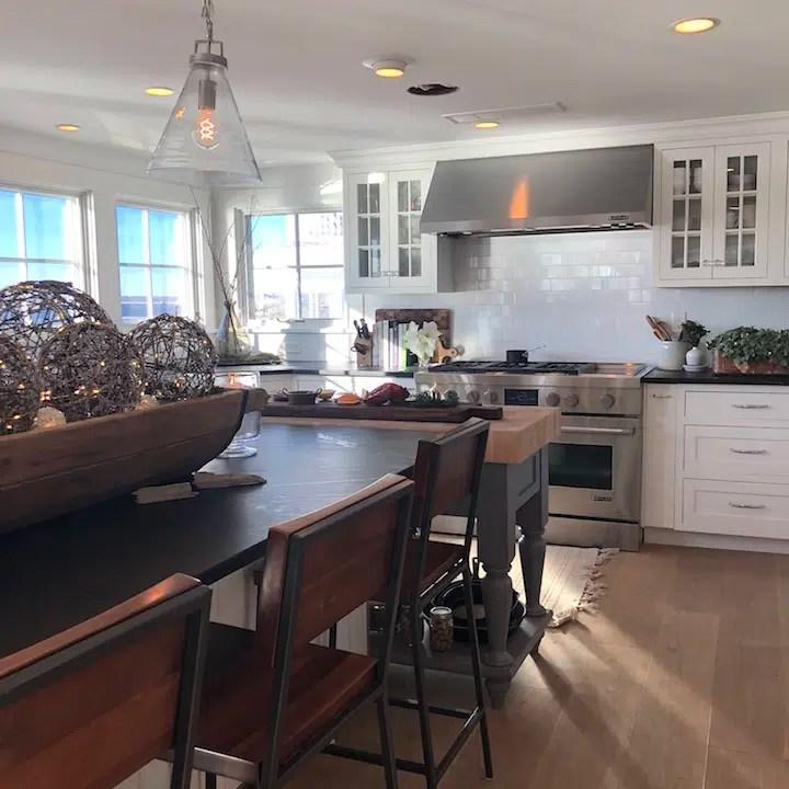 Plum Island kitchen Newburyport Christmas decorating house tour 2018
