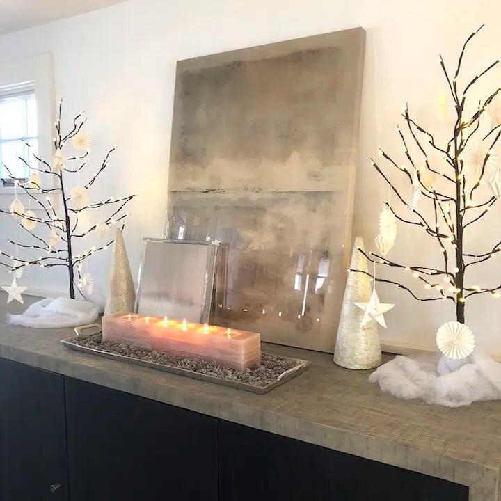 Plum Island Dining Room sideboard Newburyport Christmas decorating house tour 2018