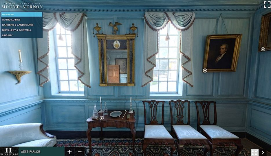 Mt. Vernon West Parlor windows