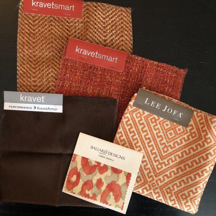 Linda Merrill orange tan brown palette formal family friendly