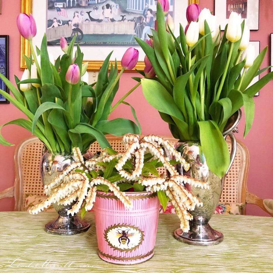 Linda Merrill floral arrangements