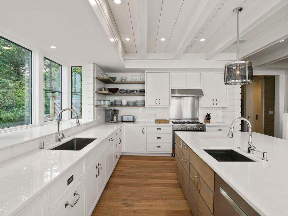 46 Winsor Street Duxbury Bay Ocean view white kitchen 4 Duxbury Bay Home