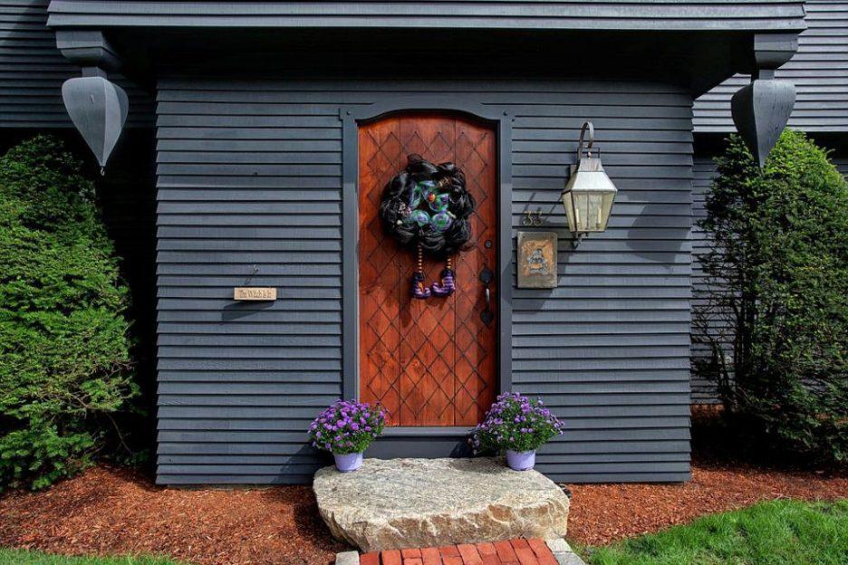 33 Tarragon Dr Sandwich MA Salem Witch House replica front door