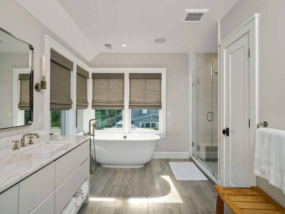 46 Winsor Street Duxbury Bay Ocean view master bath freestanding tub 2 Duxbury Bay Home