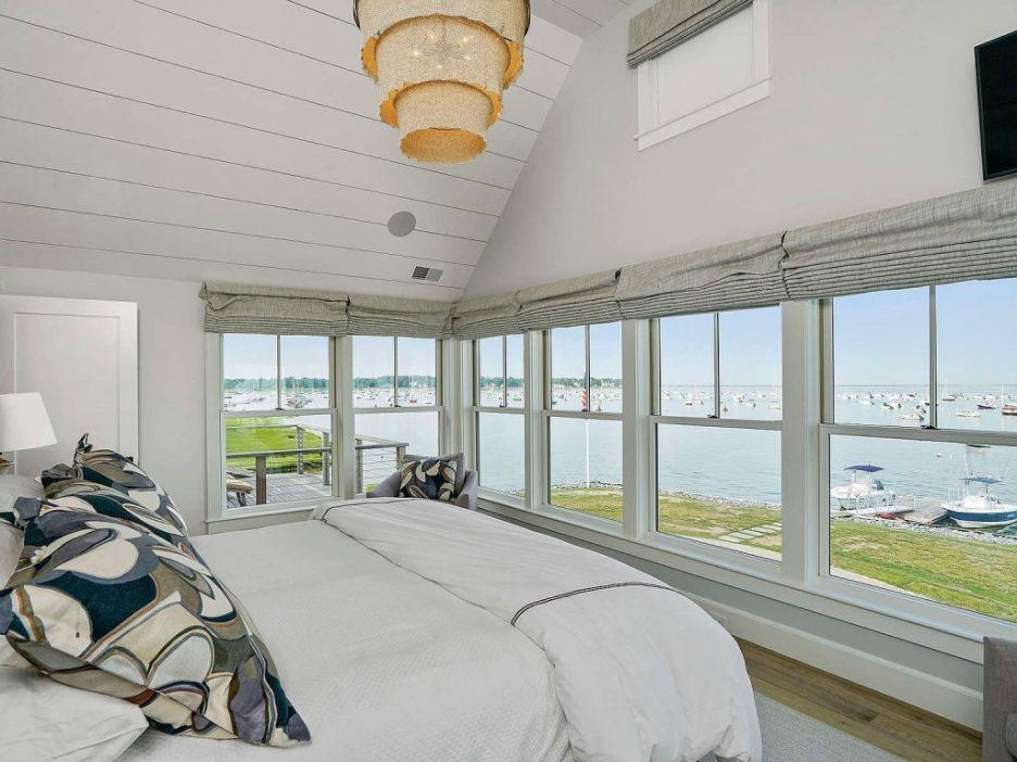 46 Winsor Street Duxbury Bay Ocean view master bedroom shiplap Duxbury Bay Home