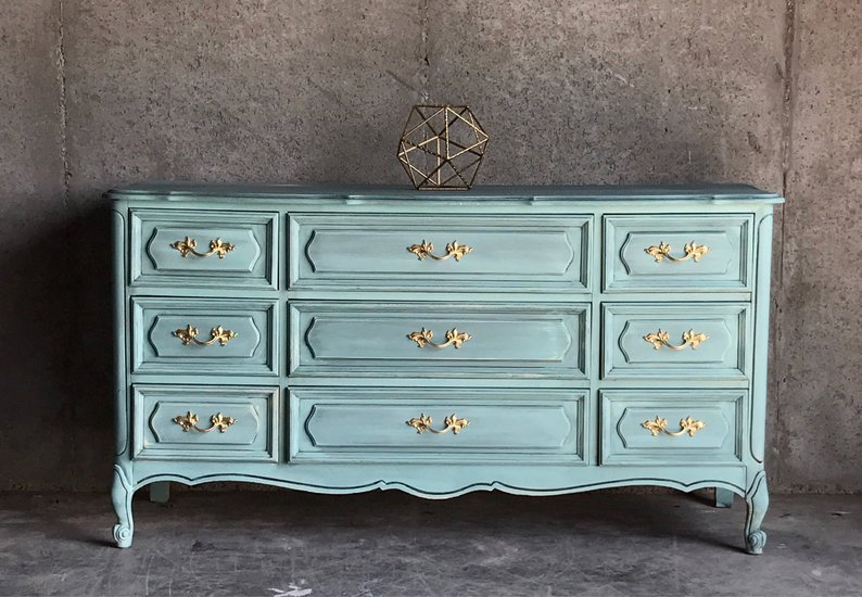 French provincial dresser chalk paint family heirlooms