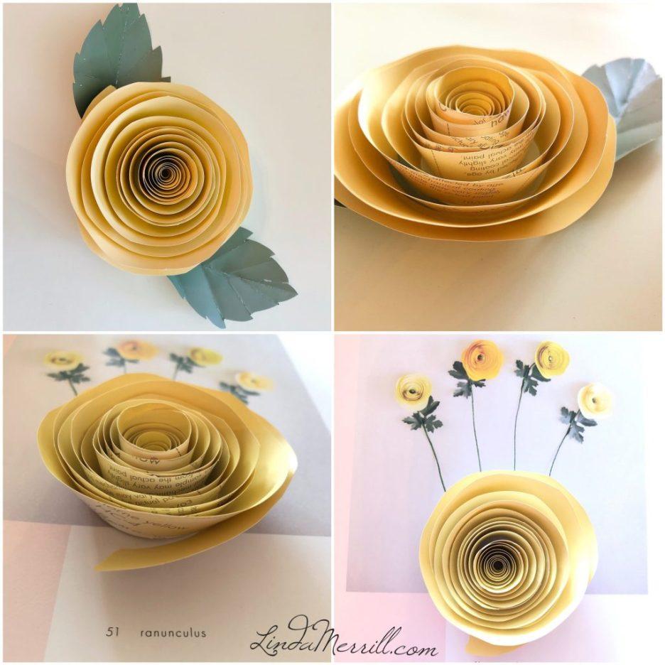 Linda Merrill paper flowers ranunculas