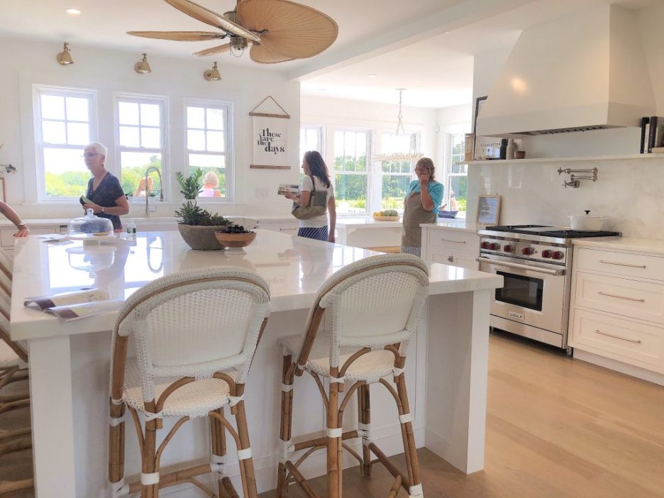 163 High Rd Newburyport Kitchen Tour 2019 Modern Black and White kitchen island wolf range LMM