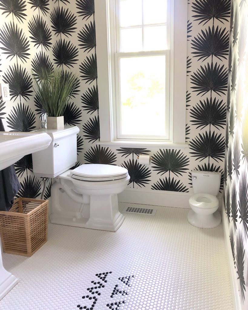163 High Rd Newburyport Kitchen Tour 2019 Modern Black and White Bathroom mini toilet LMM
