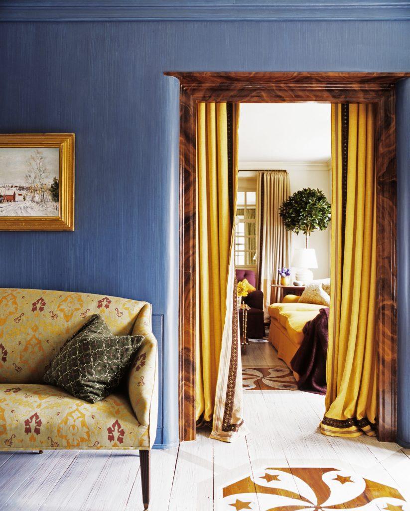 Everyday Decorating Jeffrey Bilhuber blue room doorway
