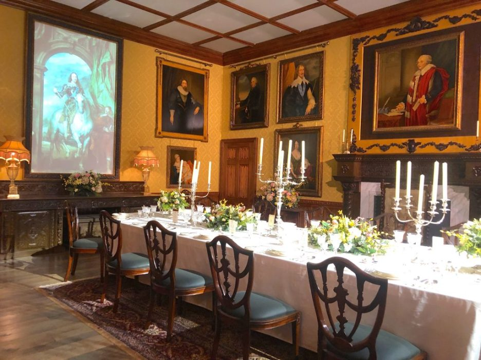 Downton Abbey Dining Room Screen painting Downton Abbey Exhibition 7312