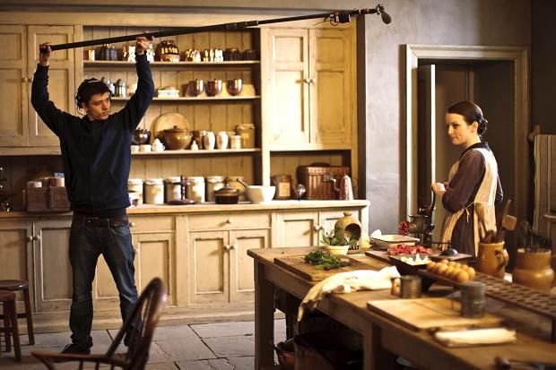 Downton Abbey Kitchen cooking Daisy and big cupboard