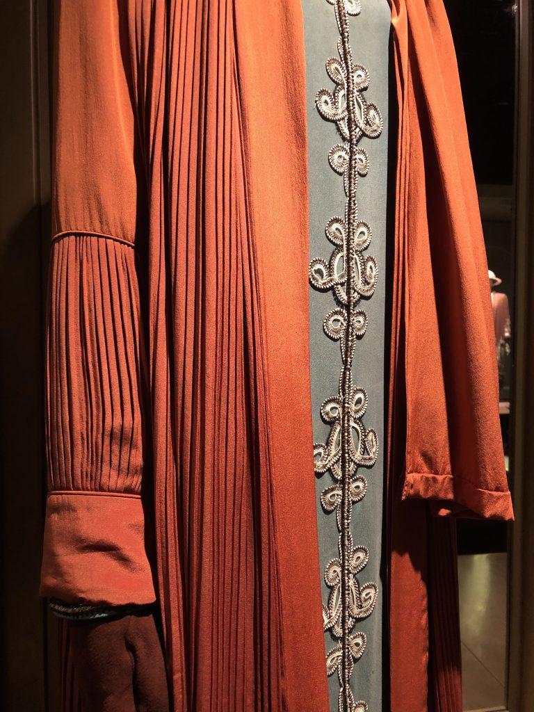 Lady Cora Orange Coat detail Downton Abbey Exhibition 7279