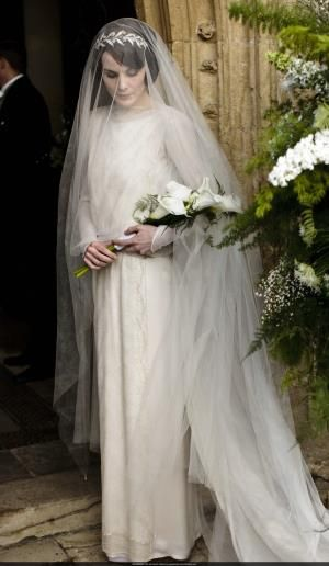 Lady Mary 1st front view wedding dress