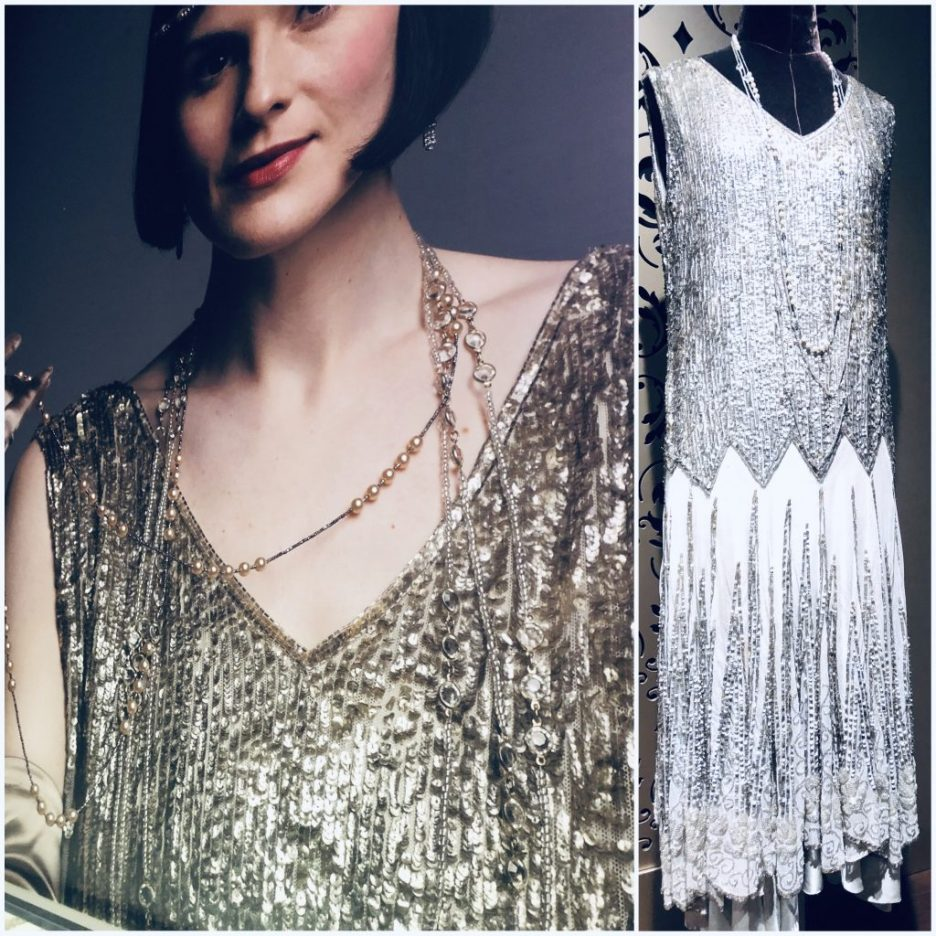 Lady Mary Silver Beaded Dress Downton Abbey Exhibition