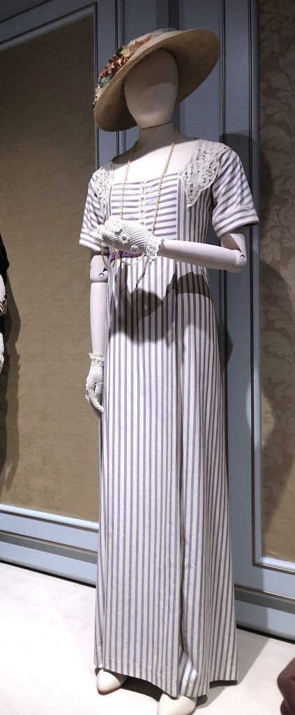 Lady Mary Striped Garden Party dress Downton Abbey Exhibition 7240