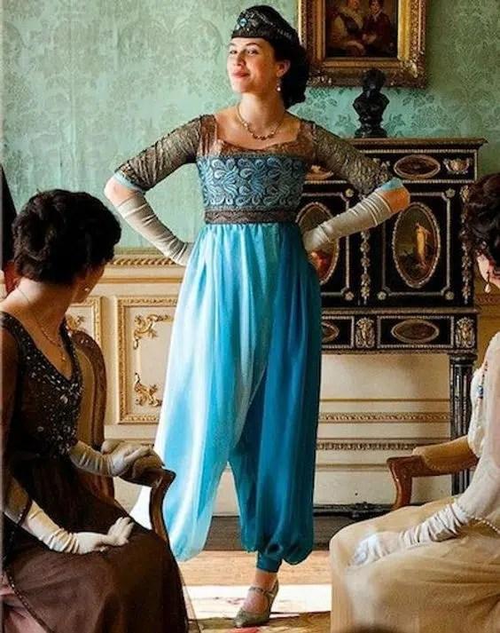 Lady Sybil Harem pants outfit
