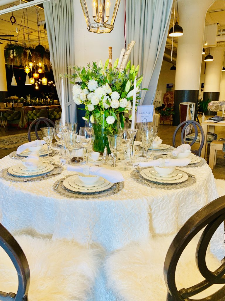 Designer Tanya Capello Heading Home to dinner 2019 beautiful tablescapes