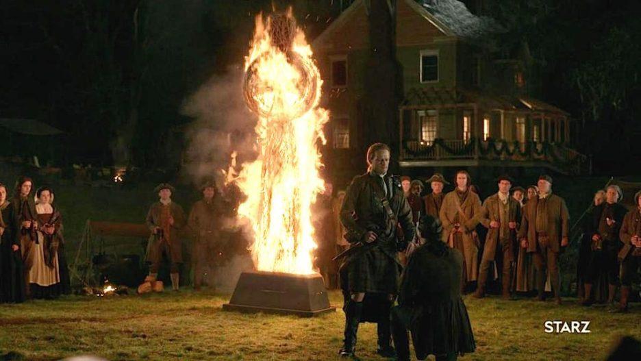 Starz Outlander The Ridge fiery cross nighttime big house oath taking outlander-online season 5