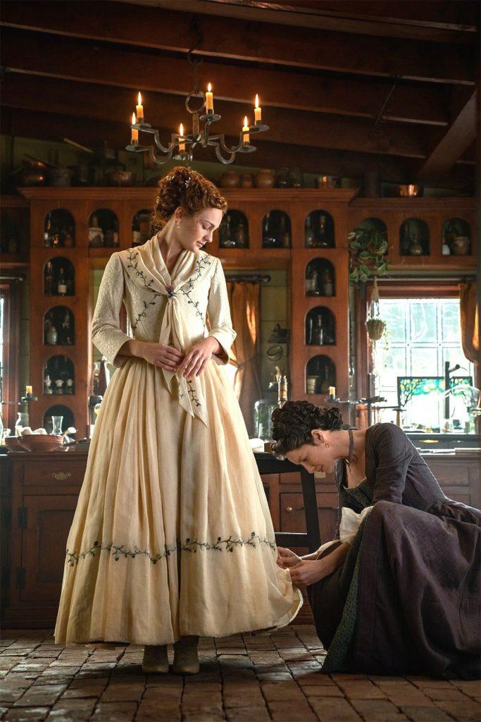 Starz outlander The Ridge Big House Surgery Season 5 Brianna Claire wedding dress