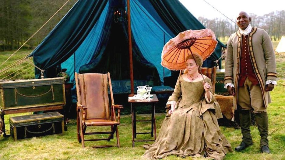 Starz Outlander The ridge Jacosta Ulysses Pavillion trunks camp chair outlander-online season 5