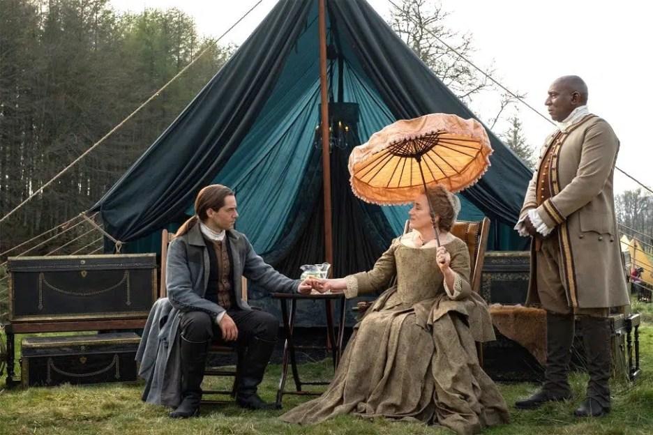Starz Outlander The Ridge Roger Jacosta Ulysses Pavillion tent Season 5