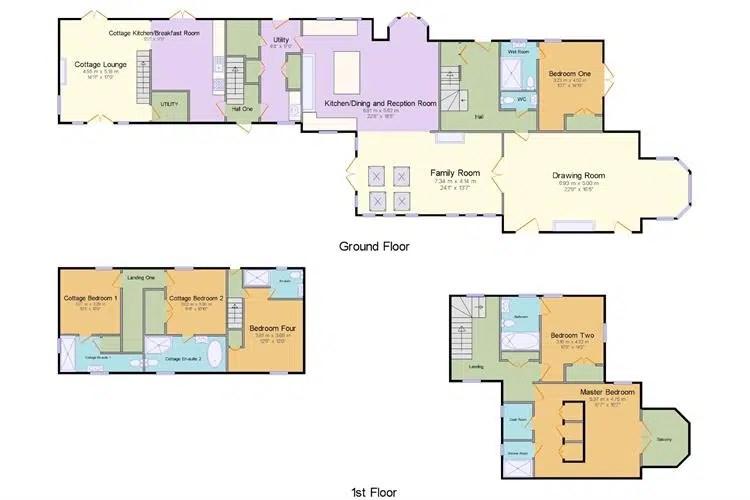 Rhydyclafdy, Pwllheli, Gwynedd Scandi New England floor plan