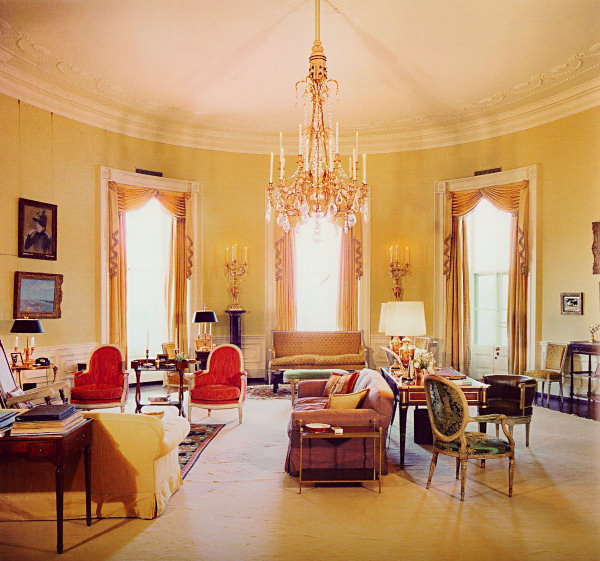 Sister Parish White House Yellow Oval Room Design