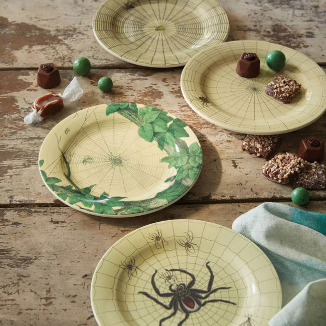 John Derian Halloween for Target spider web dishes