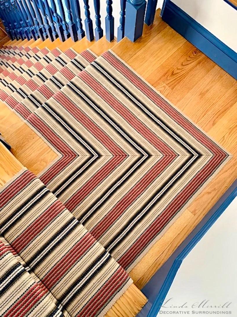 Linda Merrill Colorful Cape Cod stair runner
