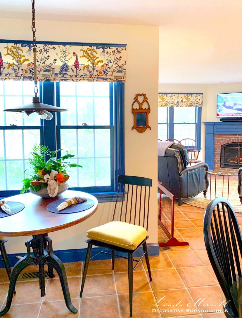 Linda Merrill Decorative Surroundings Cape Cod Colorful dining and living area