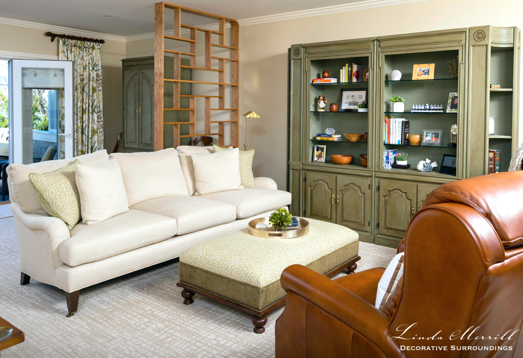 Linda Merrill Decorative Surroundings Hingham Sitting Room and Home Office Work From Home 2