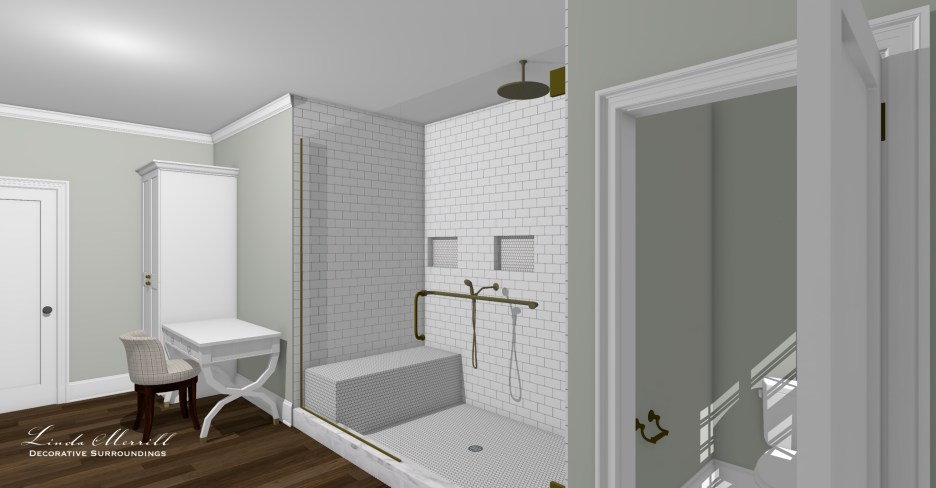 052821 4 Owners bathroom from outside door Linda Merrill dream home 2021 final layout