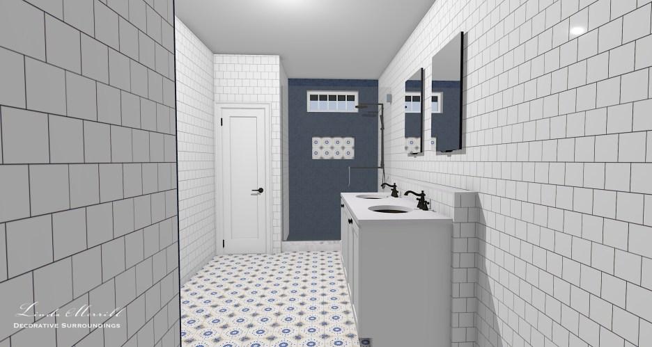 052821 Guest Bath from door Linda Merrill dream home 2021 final layout