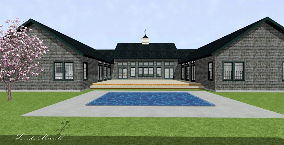 Linda Merrill Dream Home 2021 Rear house view