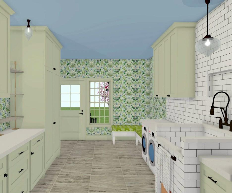 Linda Merrill Dream Home 2021 Mudroom Laundry Room Guest room