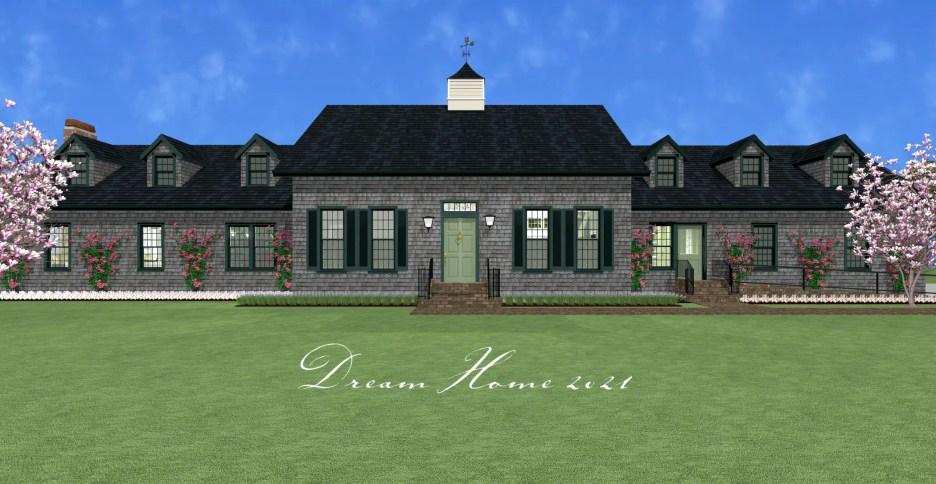 Front exterior Linda Merrill Dream Home 2021