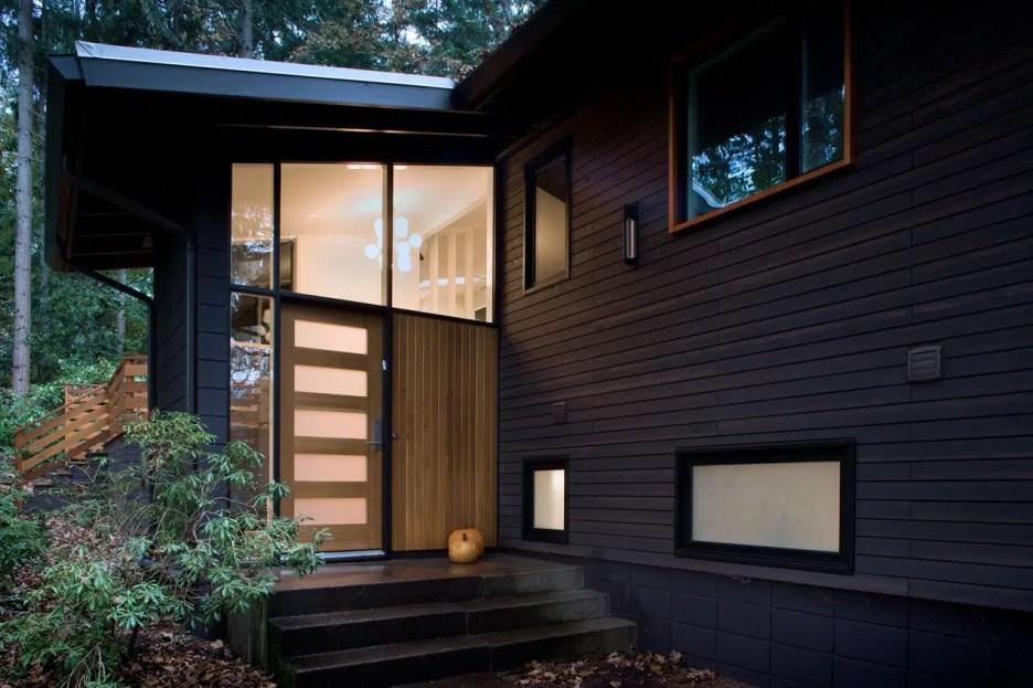black mid century house