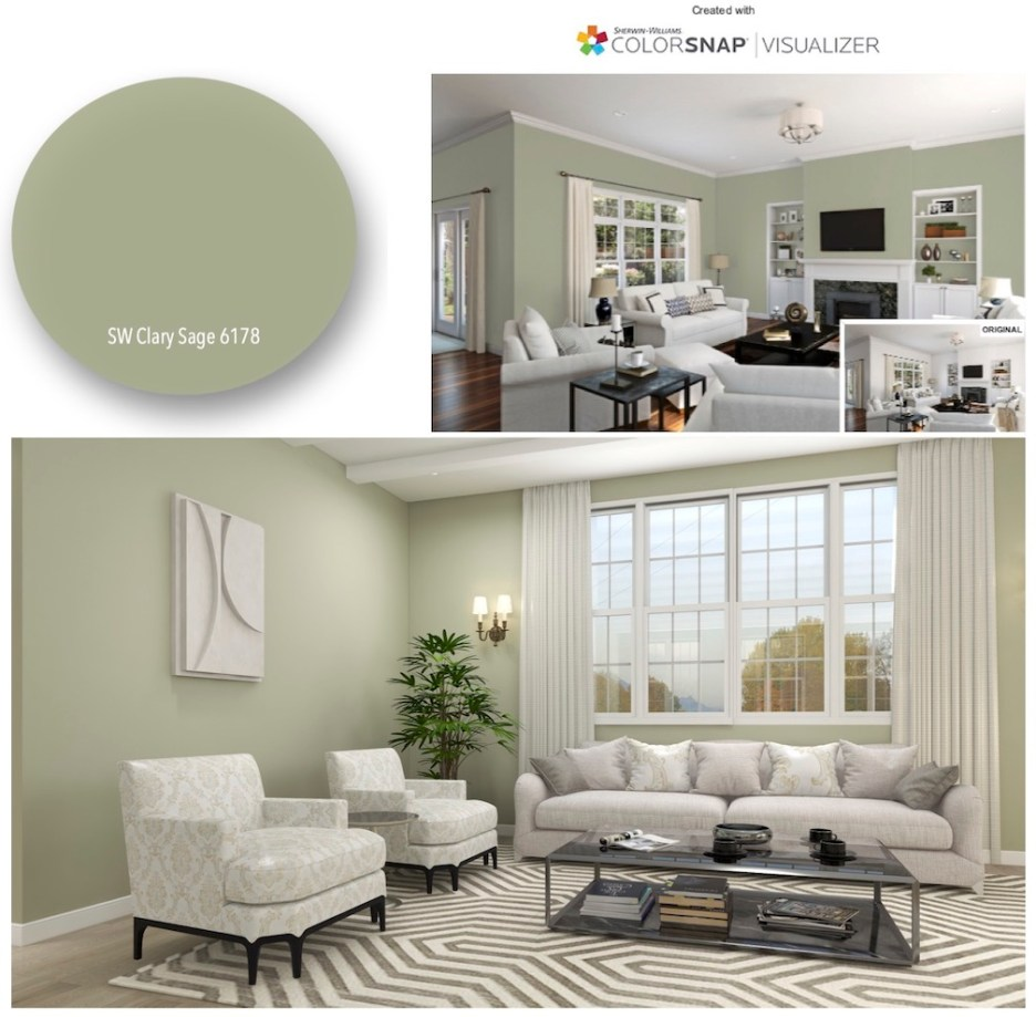Clary Sage 6178 montage Sherwin Williams COTY 2022