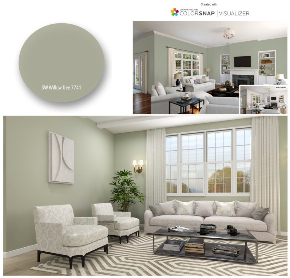 Willow Tree 7741 montage Sherwin Williams COTY 2022