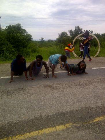 Press-ups at the equator.