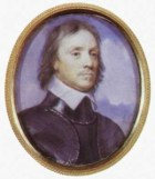 Oval portrait of Oliver Cromwell