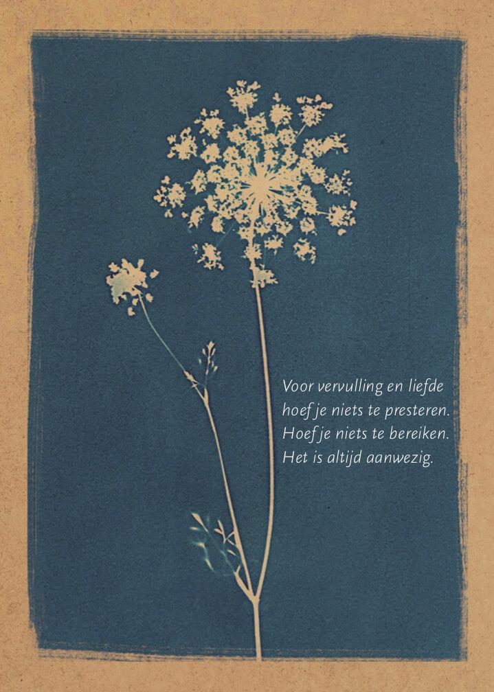 Afbeelding van illustratie uit het boek 'Van doen naar zijn' met kort gedichtje