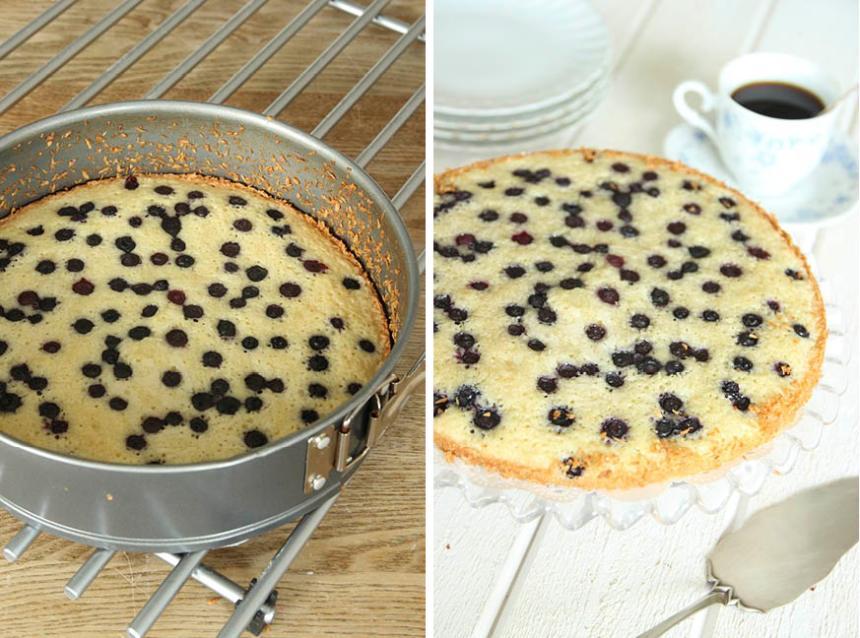 4. Grädda kakan mitt i ugnen i 18–25 min beroende på hur kladdig du vill ha den.