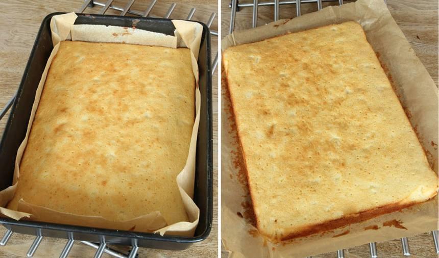 3. Grädda kakan mitt i ugnen 25–30 min. Låt den svalna i formen.