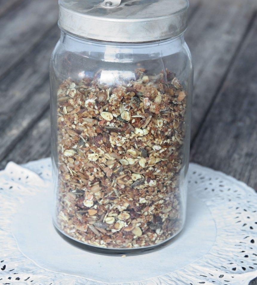 5. Förvara müslin i en bruk med tätslutande lock.