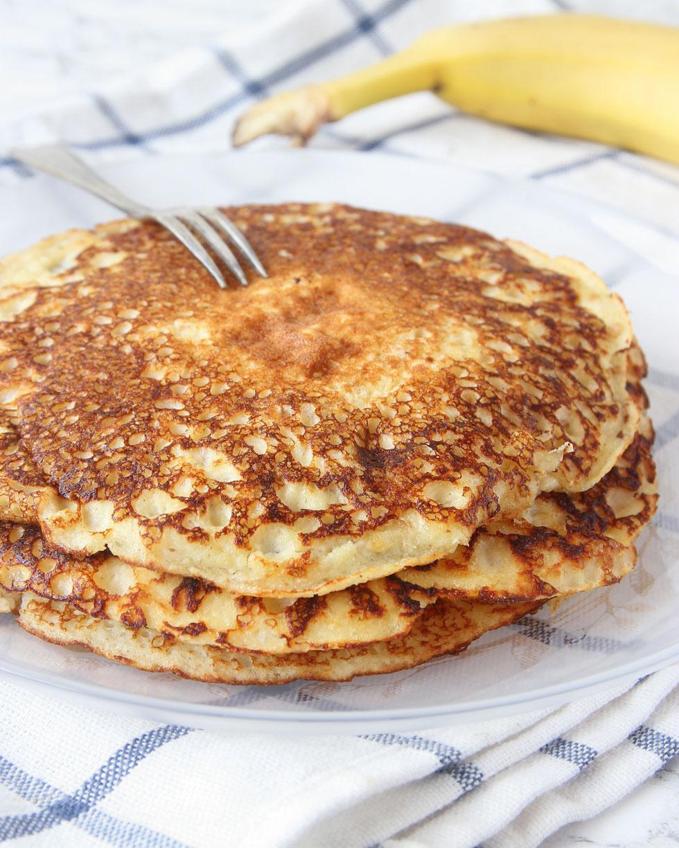 recept bananpannkaka med havregryn