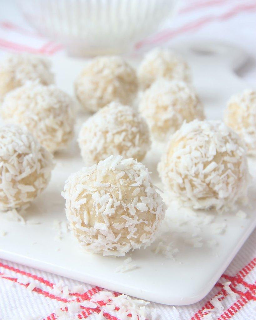 snöbollar med vit choklad