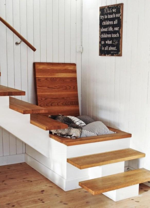 oppbevaring i trappen